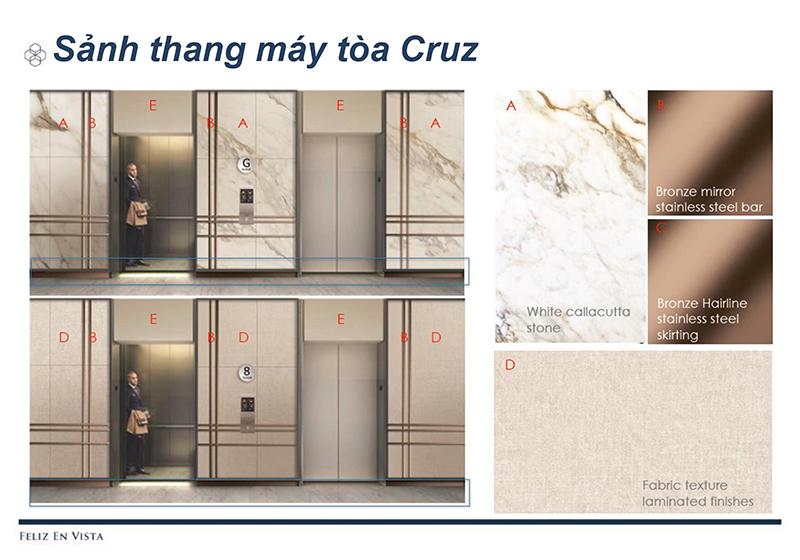 sảnh thang máy căn hộ Feliz En Vista