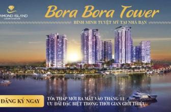 Tận hưởng khung cảnh bình minh tại tòa tháp Bora Bora