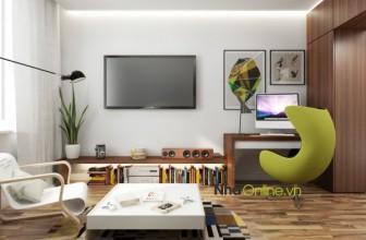 Bài trí nội thất cho căn hộ dưới 45m² theo phong cách hiện đại